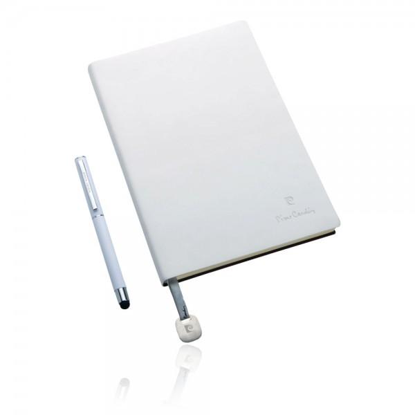 CAPUCINE Set aus Notizbuch A5 und Rollerball Pen, weiß