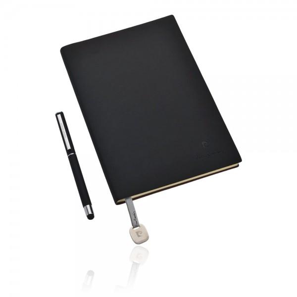 CAPUCINE Set aus Notizbuch A5 und Rollerball Pen, schwarz