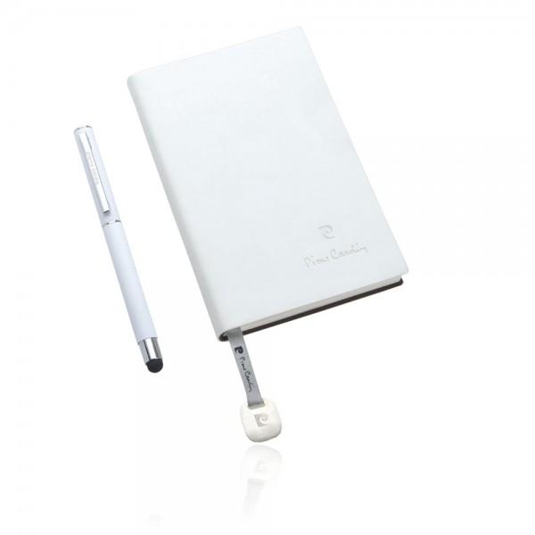 ARLAS Set aus Notizbuch A6 und Rollerball TouchPen, weiß